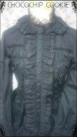 画像7: リボンタイ付き水玉チュールスタンドカラー長袖ブラウス