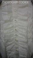 画像9: リボンタイ付き水玉チュールスタンドカラー長袖ブラウス