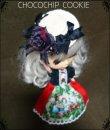 画像2: 白雪姫ワンピース+黒薔薇リボン麦わら帽子セット