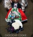 画像3: 白雪姫ワンピース+黒薔薇リボン麦わら帽子セット