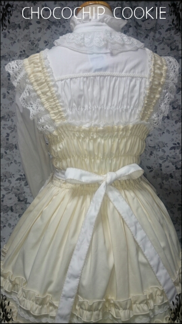 画像: フリルエプロン付きシャーリングジャンパースカート