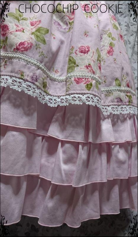 画像: ロココローズミックスワンピース+リボンバレッタ (1)水色  (2)ピンク