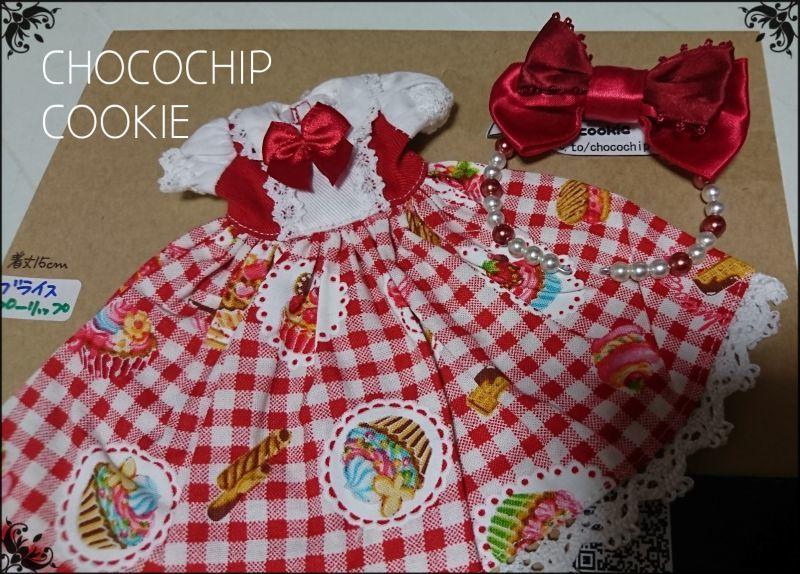画像2: カップケーキ×ギンガム・丸襟半袖ワンピース+リボンカチューシャ