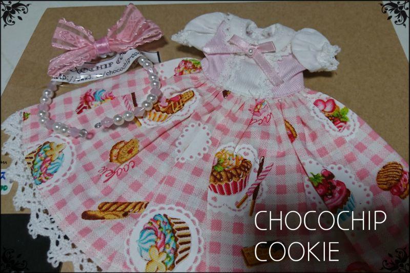 画像3: カップケーキ×ギンガム・丸襟半袖ワンピース+リボンカチューシャ